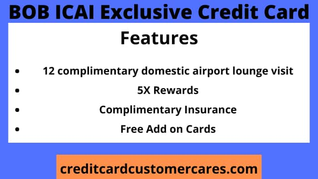 BOB ICAI Exclusive Credit Card