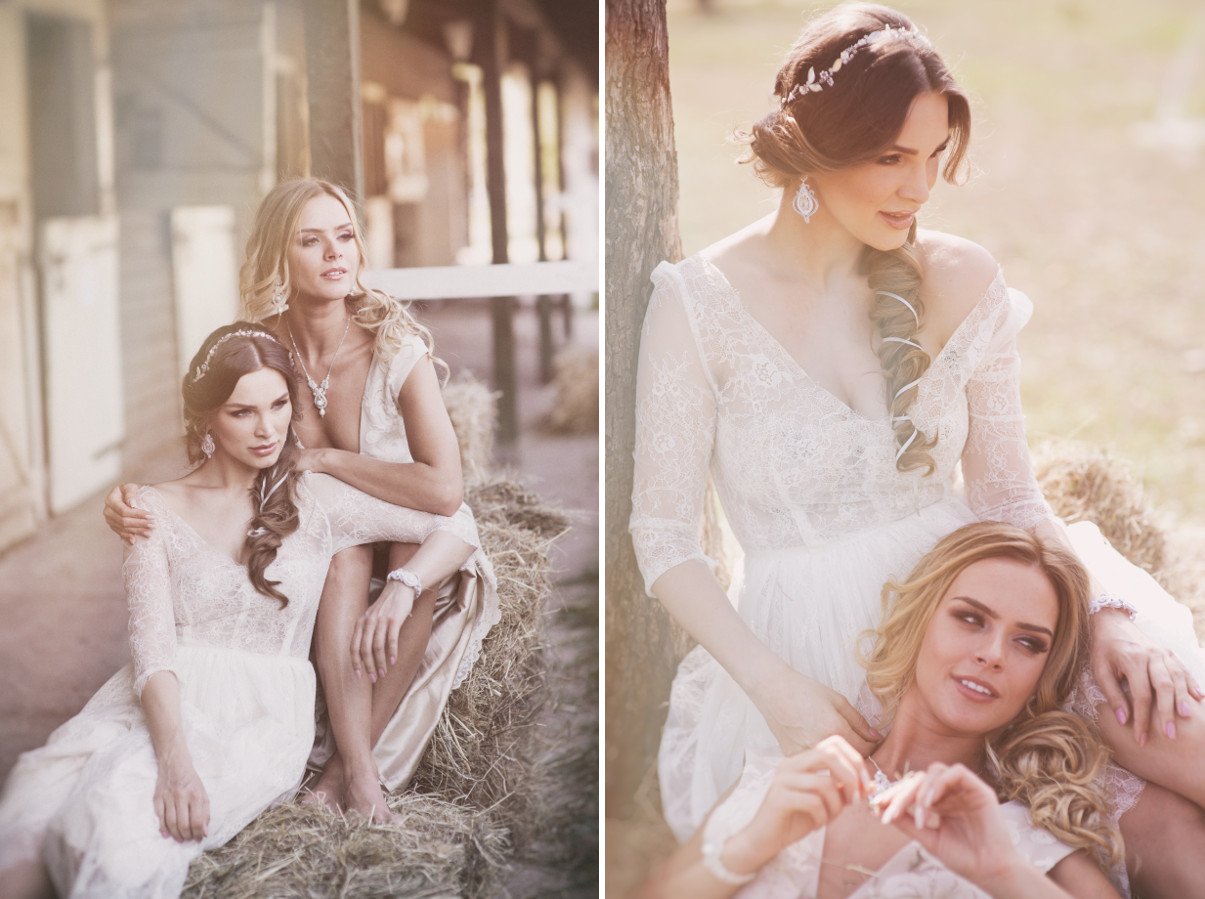 Romantyczna biżuteria ślubna.