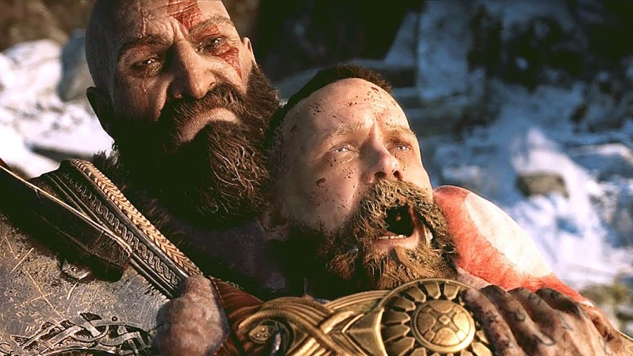 god of war ps4 baldur vs kratos