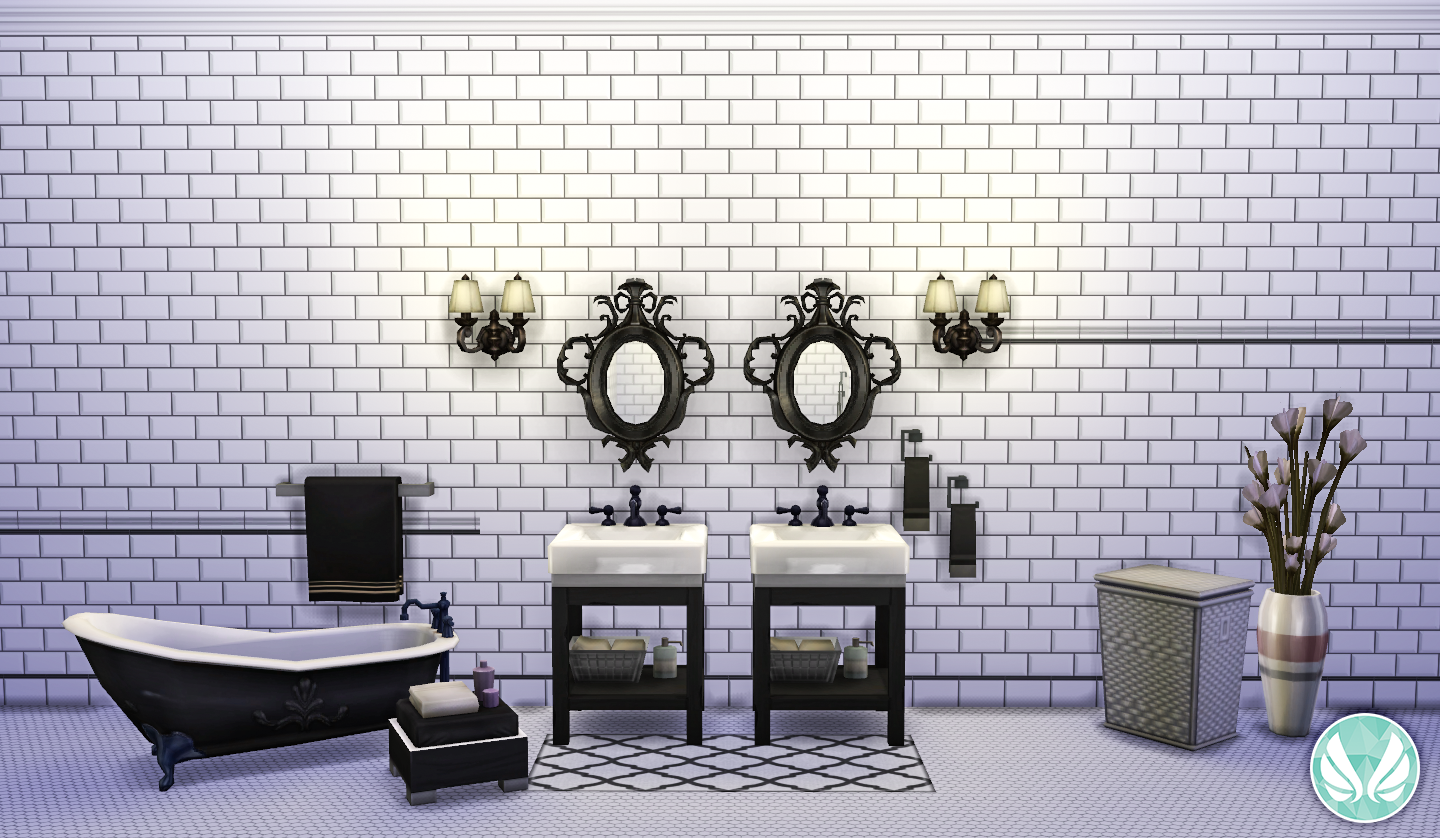 beveled subway tile design | Simsational Designs: Classic Wall Set - Beveled Subway Tiles