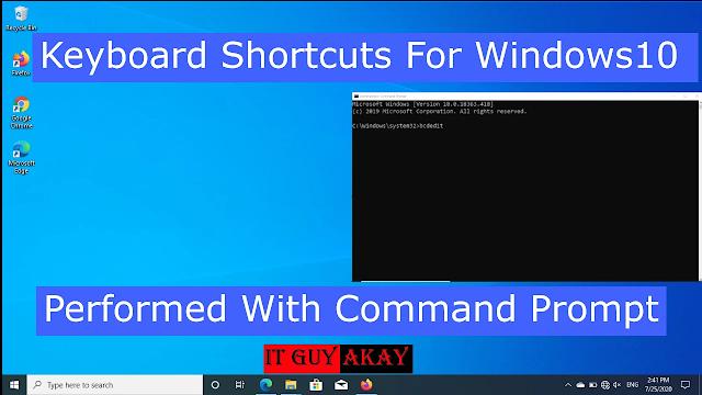 shortcut key for windows 10