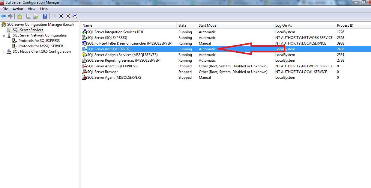 SQL Server (MSSQLSERVER)