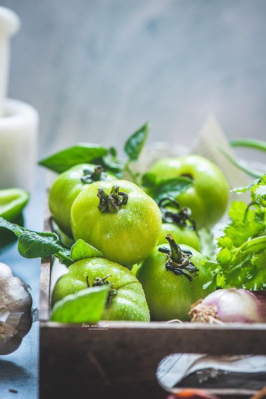 green tomatoes photographs