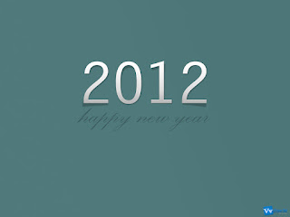 Happy New Year 2012 Simple Text Wallpaper