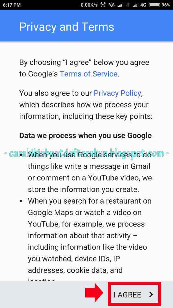 Contoh Dan Cara Buat Akun Google di Android Xiaomi Lengkap