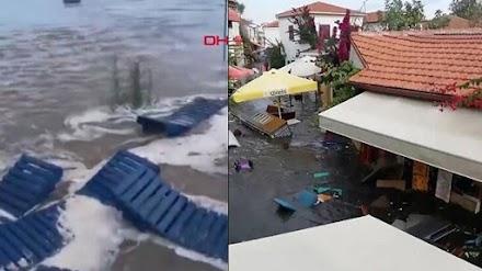 Τσουνάμι και στην Σμύρνη (video)