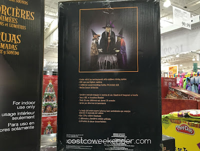 Costco 739766 - 3 Animated Witches with Lights and Sounds - Scare the neighborhood kids this Halloween