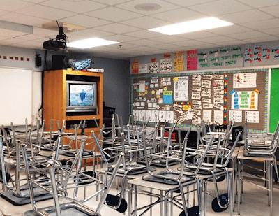my math classroom decor (photo taken the last day of school)