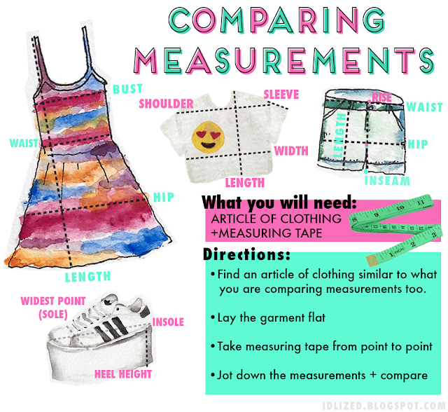 #online #shopping #flat #measurements #size #sizing #guide #clothing #guide #chart #measure