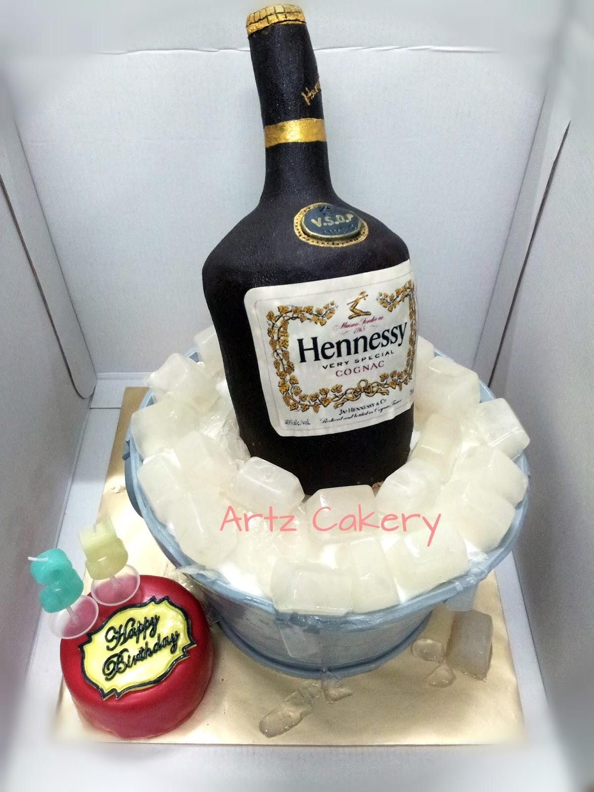 New Artz Cakery: HENNESSY BOTTLE CAKE (all edible) BK95
