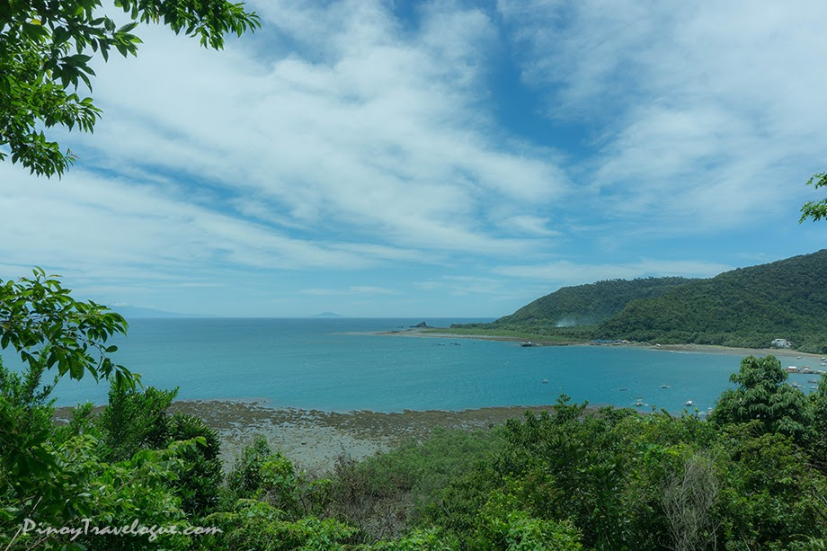 Relaxing view of Baler's coastline from Ermita Hill