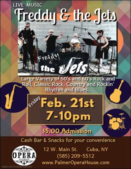 2-21 Freddy & the Jets, Palmer Opera House