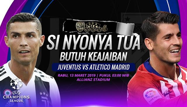 Prediksi Juventus Vs Atletico Madrid, Rabu 13 Maret 2019 Pukul 03.00 WIB @ RCTI