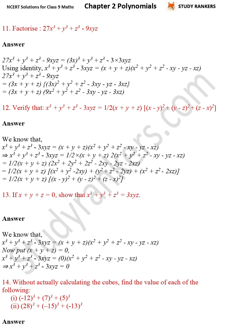 NCERT Solutions for Class 9 Maths Chapter 2 Polynomials Part 26