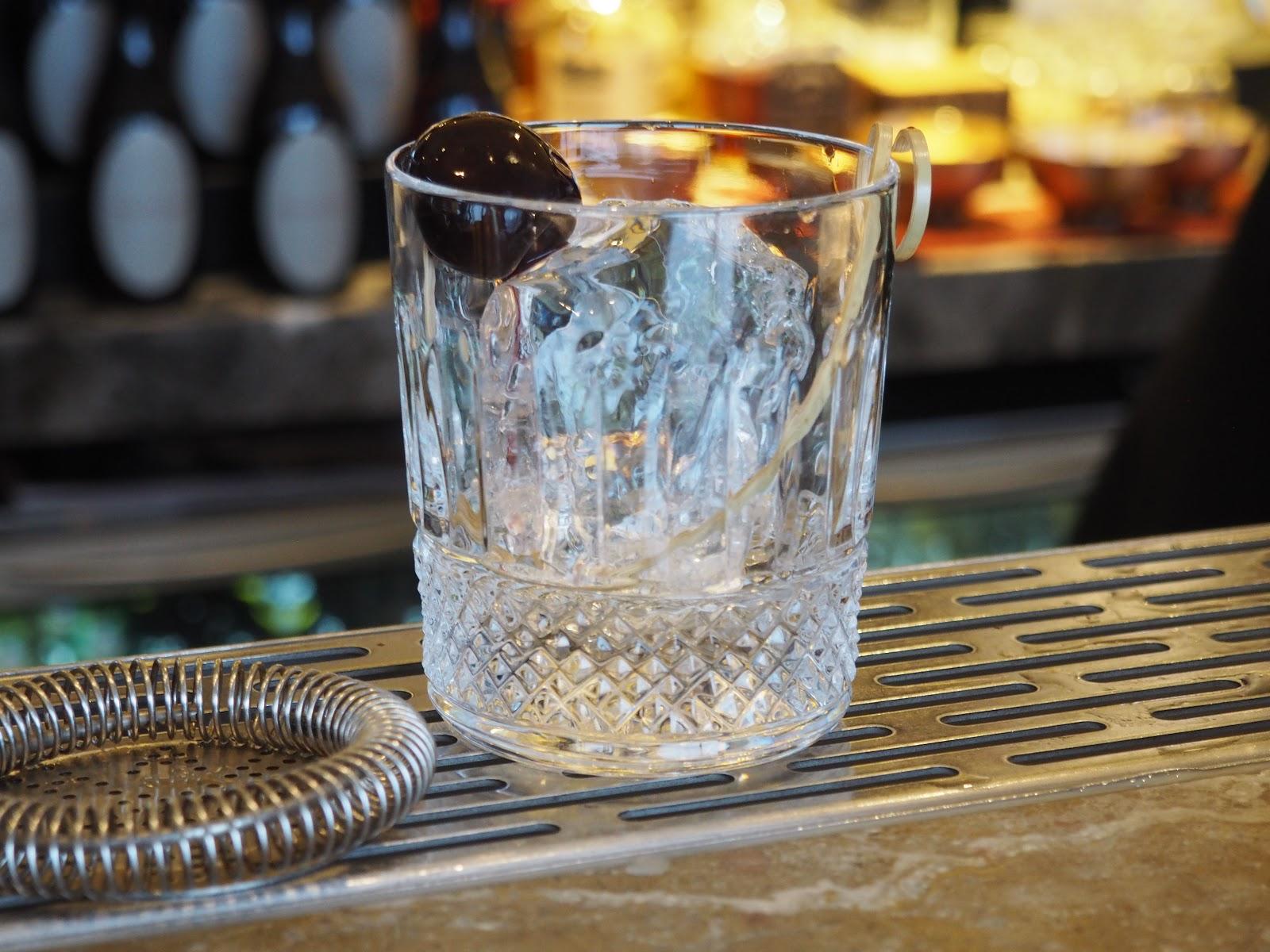 Mixing cocktails at GONG Bar at the Shangri La at The Shard