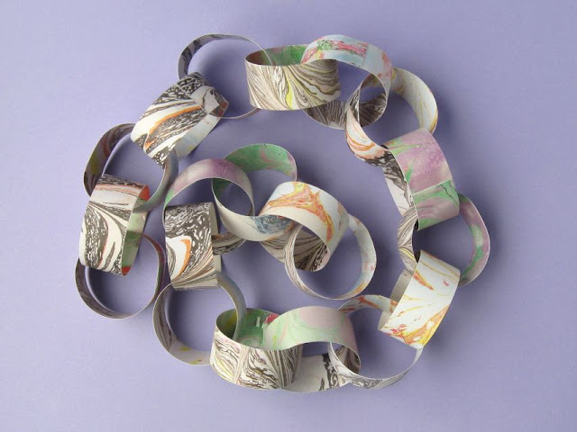 DIY craft paper chain garland