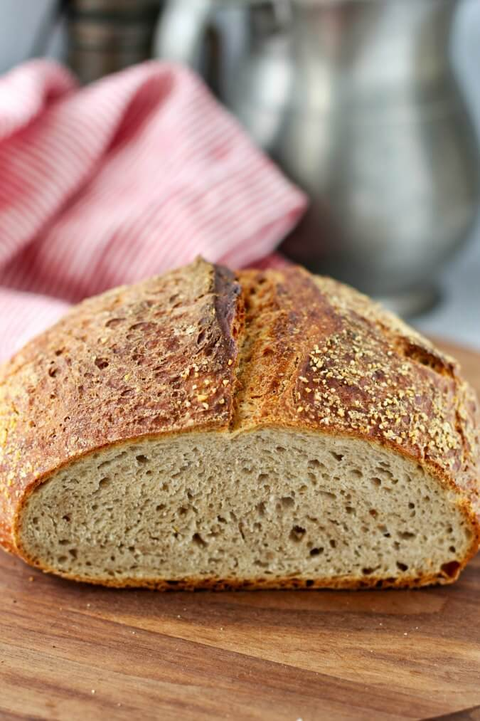 No Knead rye bread crumb
