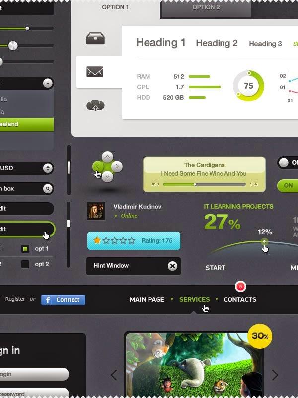 Futurico UI Free – User Interface Elements Pack