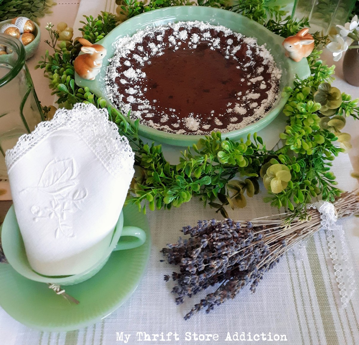 The Lavender Cookbook brownie recipe