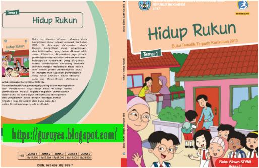Download Buku Siswa dan Buku Guru SD Kelas 2 K13 revisi 2018