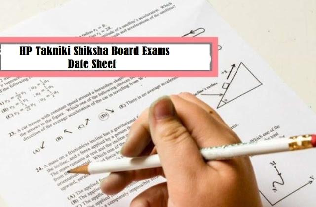 Himachal Pradesh HP Takniki Shiksha Board Date Sheet