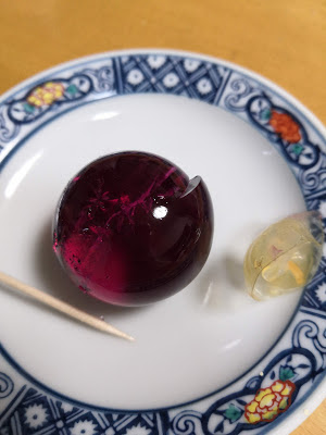 Jelly of grape on the plate