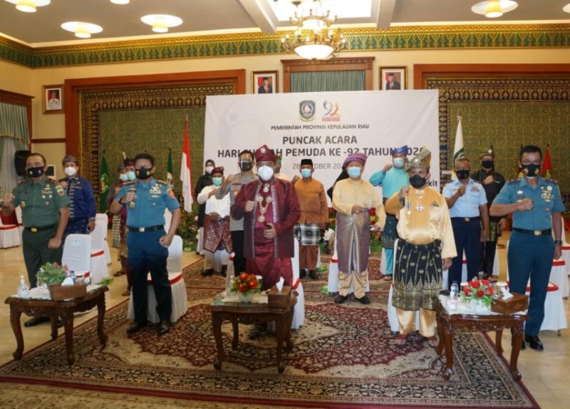 Danlantamal IV Hadiri Acara Puncak Peringatan ke-92 Sumpah Pemuda Secara Virtual
