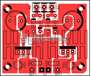 Power supply 12v Symetris PCB Layout