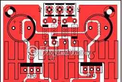 Power supply 12v Symetris PCB Layout