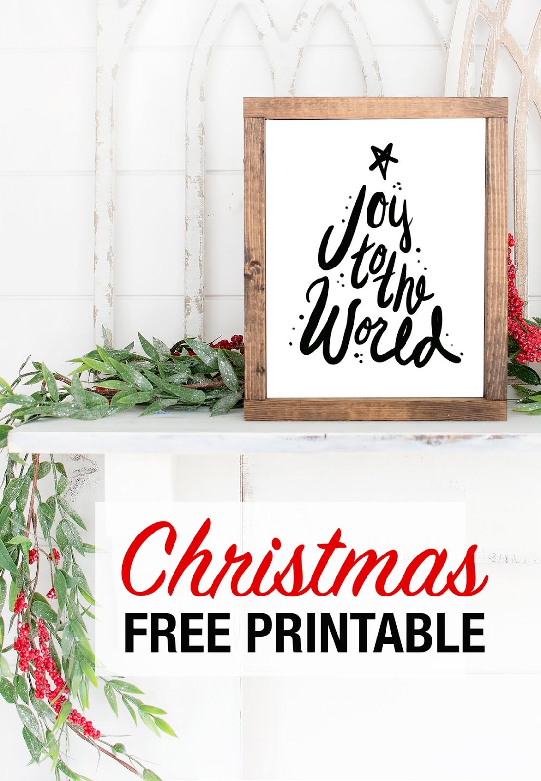 Joy to the world free printable