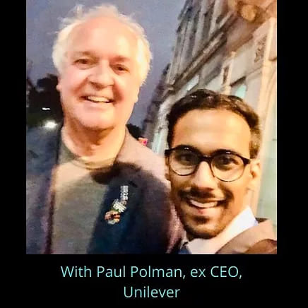 Pratik Gauri with Paul Poiman
