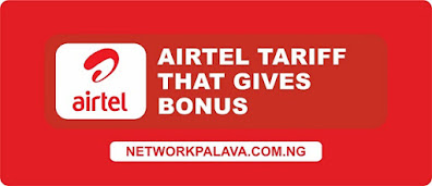 airtel tariff plans that gives bonus