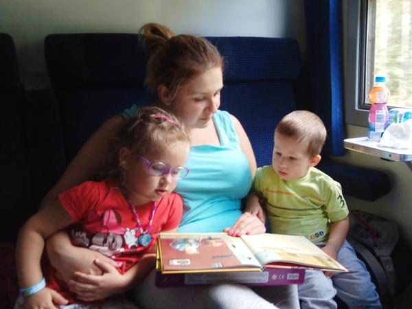 Zabawy w pociągu - czytamy