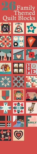 Family themed quilt blocks