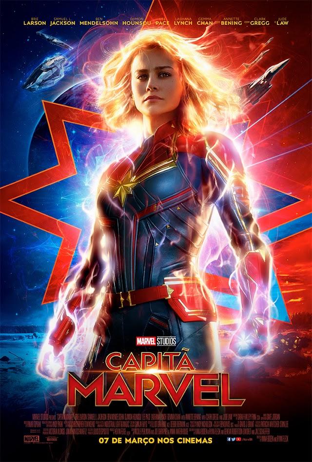 Confiram o novo pôster e trailer de Capitã Marvel