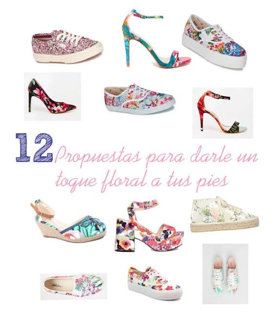 12 pares de zapatos que le daran un toque floral a tus pies