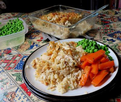 Garlic Cheddar Chicken & Rice Bake
