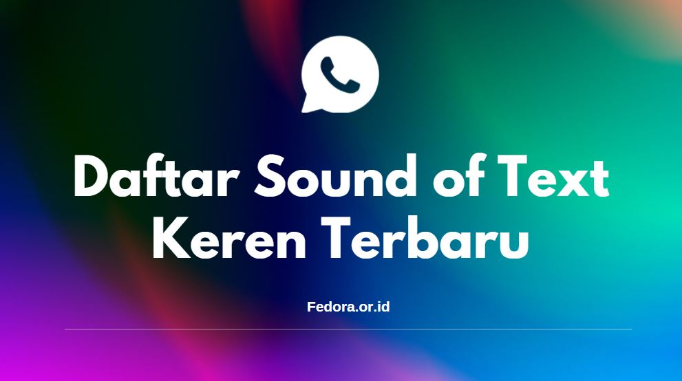 daftar lengkap situs sound of text keren