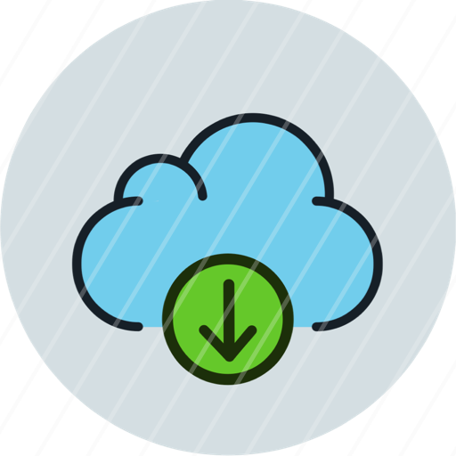 cloud data download storage icon