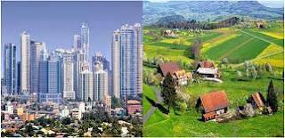 تحضير نص بين الريف والمدينة للسنة الاولى متوسط الجيل الثاني