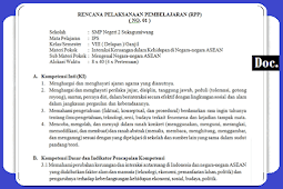 RPP [IPS] Kelas [VIII/8] SMP/MTs Kurikulum 2013 Revisi Terbaru Semester 1 dan 2
