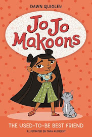 Book cover with the title with a young smiling girl with long dark hair. There is a small cat sitting next to her.