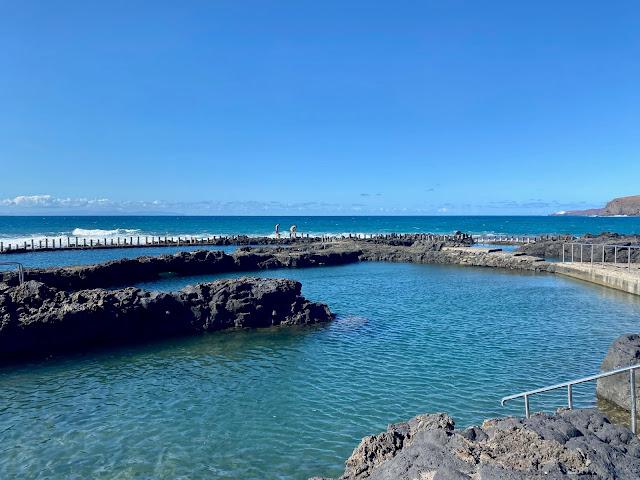 Natural ocean swimming pools in Agaete, Gran Canaria, Spain