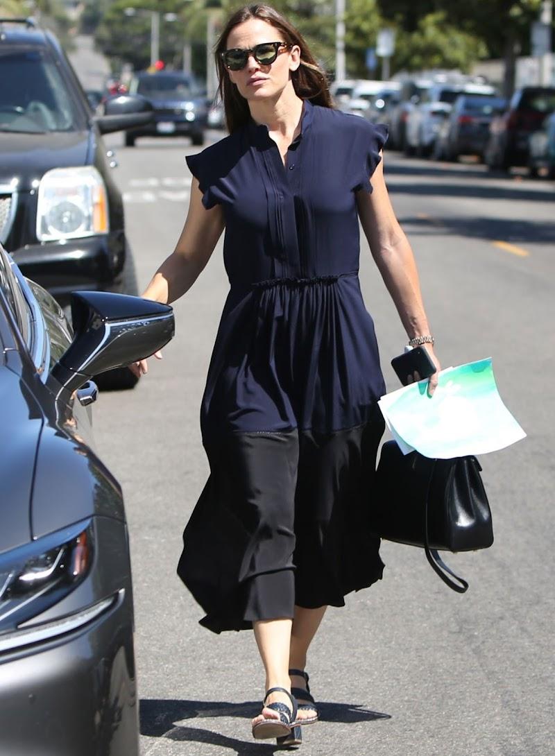 Jennifer Garner Leaves Church in Los Angeles 8 Sep-2019