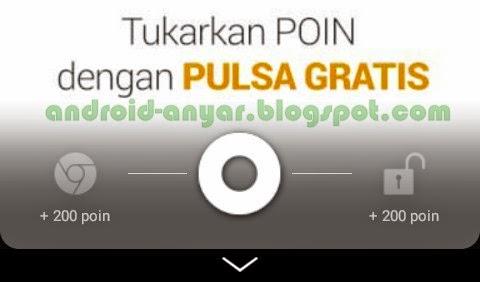 Aplikasi Lock Screen dibuka diberi pulsa gratis