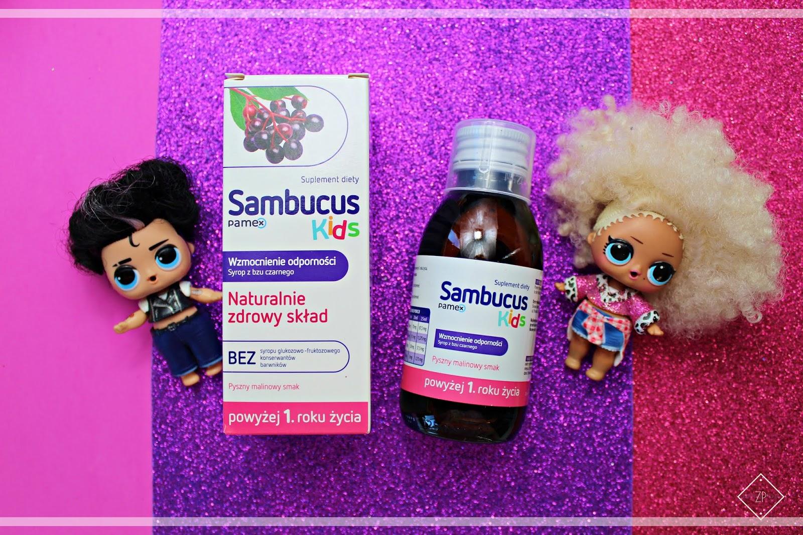 SAMBUCUS KIDS - naturalny syrop z czarnego bzu wspierający odporność dzieci.