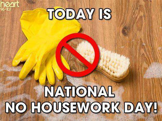 National No Housework Day Wishes Images download