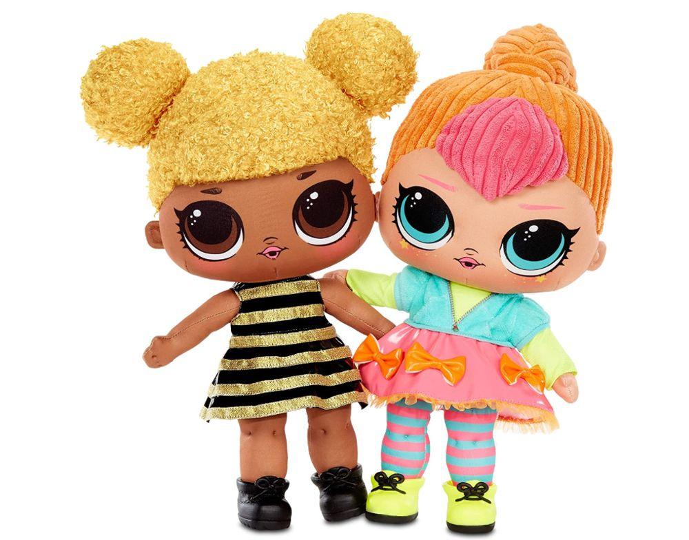 Мягкие куклы Лол Сюрприз Королева Пчелка и Неон Кьюти