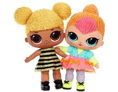 Новые мягкие куклы Лол Сюрприз для обнимашек: L.O.L. Surprise Queen Bee и Neon Q.T. Soft Plush Doll