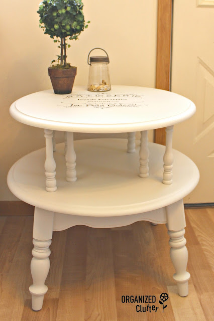 Vintage Table Painted with Fusion Mineral Paint in Champlain organizedclutter.net
